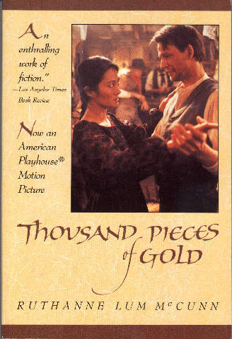 Cover of Thousand Pieces of Gold with a photo from the movie